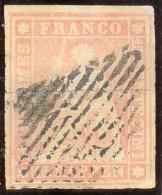 Schweiz Strubel 15Rp. Gr.SF Zu#24A SH24B4 Randstück - 1854-1862 Helvetia (Ungezähnt)