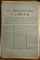 AFFICHE REVOLUTION. FAC-SIMILÉ - 68 - LE MONTAGNARD VADIER A Mr CARITAT, CI-DEVANT MARQUIS DE CONDORCET, ACADÉMICIEN, A - Affiches