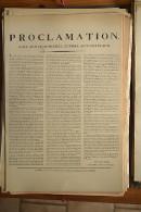 AFFICHE REVOLUTION. FAC-SIMILÉ - 70 - PROCLAMATION. PAIX AUX CHAUMIÈRES, GUERRE AUX CHATEAUX FAIT À METZ LE 2 JUIN 1793 - Afiches