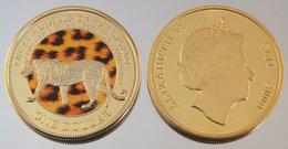Fidji 1 Dollar 2009 Au Leopard  Couleurs Animal - Fidji
