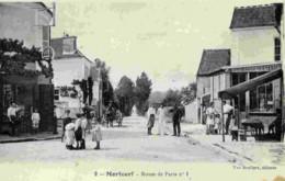 77 MORTCERF Route De Paris No 1- Peu Courante.Très Animée. - France