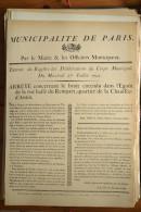 AFFICHE REVOLUTION. FAC-SIMILÉ - 79 - MUNICIPALITÉ DE PARIS. EXTRAIT DU REGISTRE DES DÉLIBÉRATIONS DU CORPS MUNICIPAL DU - Affiches