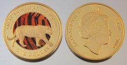 Fidji 1 Dollar 2009 Au Tiger Couleurs Animal - Fidji