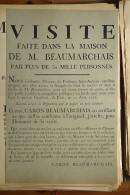 AFFICHE REVOLUTION. FAC-SIMILÉ - 81 - VISITE FAITE DANS LA MAISON DE M. BEAUMARCHAIS PAR PLUS DE 30 MILLE PERSONNES - Affiches