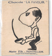 """34- MONTPELLIER - MATTE FILS - CHOCOLAT """" LA FAVEUR""""  Système à Chaînes Escrime - Montpellier"""