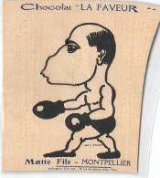 """34- MONTPELLIER - MATTE FILS - CHOCOLAT """" LA FAVEUR""""  Système à Chaînes   Boxe - Montpellier"""