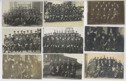 Estland Estonia 1920ies Estonian Militar Group Photographs 9 Pcs - War, Military