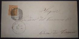 ANNULLI NUMERALI CAMPANIA: NUMERALE SALERNO Cannocchiale Usato Nel 1890 - Storia Postale