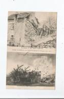 CRIME D'USSEAU PRES CHATELLERAULT (VIENNE) MAI 1905 LA MAISON DE ROY APRES L'EXPLOSION ET AU MOMENT DE L'EXPLOSION - Autres Communes