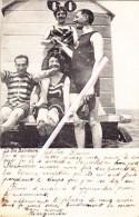 La Vie Balnéaire - 2 Couples Avec Cabine De Bain  - Super Carte Envoyée à Laure Brangard 14, Rue Du Séminaire à Namur - Postcards