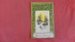 Silk  ---Christmas Greetings    Silk Center ==  Ref  2189 - Fancy Cards