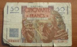 1946 - France - 50 FRANCS, LE VERRIER, A.16-5-1946.A. C.19 045262466 - 1871-1952 Antiguos Francos Circulantes En El XX Siglo