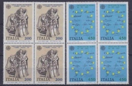 Europa Cept 1982 Italy 2v Bl Of 4  ** Mnh (29343) - Europa-CEPT