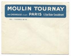 "ENVELOPPE   PUBLICITAIRE  "" MOULIN TOURNAY "" - 1921-1960: Moderne"