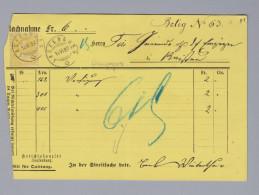 Schweiz Sitzende 1882-06-82 NN-Karte 15 Rp. Faserpapier - 1862-1881 Sitzende Helvetia (gezähnt)