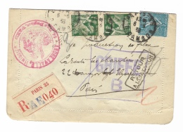ENVELOPPE   Carte Lettre  GRIFFÉ - Marcophilie (Lettres)