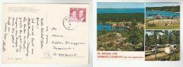 1976  SWEDEN Stamps COVER  (postcard NORRLAND) To Germany - Sweden