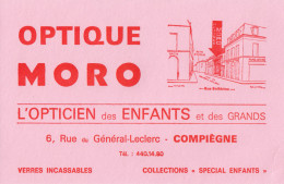Buvard - Optique Moro - Compiègne - Löschblätter, Heftumschläge