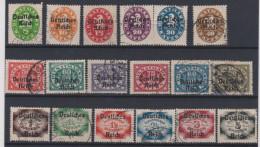 ALLEMAGNE - 1920 - Deutsches Reich - Dienstmarken - Obl. - Michel 34/51 - Valeur 75€. - Germany