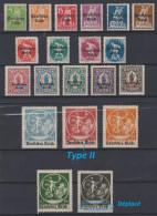 ALLEMAGNE - 1920 - Deutsches Reich - * - Michel 119/138 - Avec 135 II - Valeur 77€. - Germany