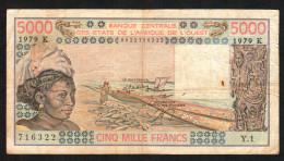 SENEGAL ( West African States) 500 Francs 1979 - P708Kb  - (see Scan) - Senegal