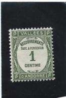 ANDORRE    TAXE    N°  16  *  Valeur YT : 4,10 € - Andorre Français