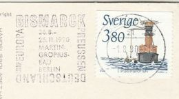 1990 SWEDEN Stamps COVER (postcard Leksand) To BERLAN SLOGAN Pmk BISMARK , GERMANY & EUROPE - Covers & Documents