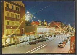 Suomi - Finland - OULU - Main Street By Night - Finland