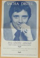 1968 - PARTITION SACHA DISTEL - MA CHERIE AMOUR - EXCELLENT ETAT COMME NEUF - PHOTO GEANTE OCCUPANT PAGE 1 ET 4 - - Autres