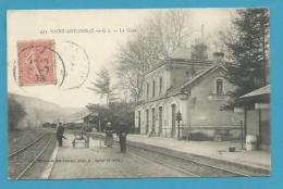 CPA 423 - Chemin De Fer Cheminots La Gare De SAINT ANTONIN 82 - Saint Antonin Noble Val