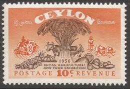 Ceylon. 1955 Royal Agricultural And Food Exhibition. 10c MH. SG 436 - Sri Lanka (Ceylon) (1948-...)