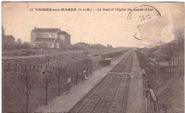Vaires Sur Marne La Gare Et L'église Ste Jeanne D'Arc - Vaires Sur Marne