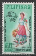 "PHILIPPINES 1974 Centenary Of U.P.U. Philippine Costumes - 60s. - ""Balintawak""  FU - Philippines"