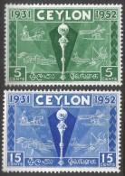 Ceylon. 1952 Colombo Paln Exhibition. MH Complete Set. SG 431-432 - Sri Lanka (Ceylon) (1948-...)