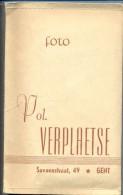 Omslag Carnet Voor Foto´s - Reclame Publicité - Pol Verplaetse - Savaanstraat Gent - Fotografie En Filmapparatuur