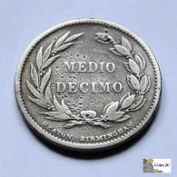 Ecuador - 1/2 Décimo - 1884 - Ecuador