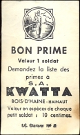 Publicité Reclame Premiebon Bon Chocolat Kwatta  Chocolade - Chocolade