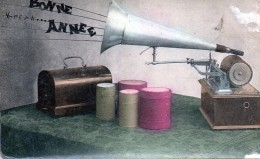 Carte Photo Bonne Année Phonographe - New Year