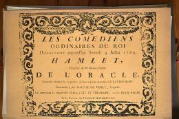 AFFICHE REVOLUTION. FAC-SIMILÉ - 91 - LES COMÉDIENS ORDINAIRES DU ROI DONNERONT AUJOURD'HUI SAMEDI 4 JUILLET 1789 HAMLE - Afiches