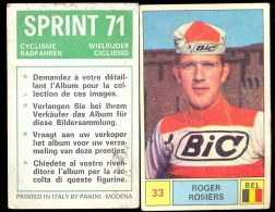 Wielrennen Cyclisme Coureur Roger Rosiers - Sprint 71 - Panini Modena - Cyclisme