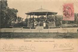 Belgique - OSTENDE Kiosque A Musique Dans Le Parc Leopold - Oostende