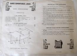 Notice Montage GARES Démontables JOUEF HO Gare Marchandise Quai Couvert Marchandises - Model Making