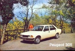 Kalender Calendrier - 1982 - Publicité Reclame Peugeot 305 - Calendriers