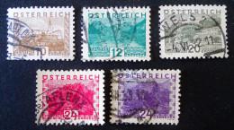 PAYSAGES 1932 - OBLITERES - YT 405/06 + 408/10 - Gebraucht