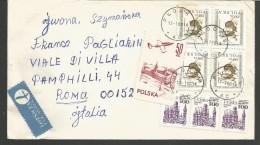 SPPOLSKA46---  STORY POSTAL,  POLAND, POLONIA,   PLOCK--ROMA, ITALY, - 1944-.... Repubblica