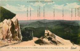 Dep - 63 - Passage Du Tramway Du Puy De Dome Au Grand Rocher - France