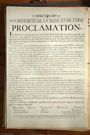 AFFICHE REVOLUTION. FAC-SIMILÉ - 99 - DEPARTEMENT DE LA SEINE ET DE L'OISE. PROCLAMATION. FAIT À VERSAILLE LE 26 JUILLE - Afiches