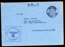 A3963) DR Feldpost-Brief Vom Reserve-Lazarett Zamosc 27.6.43 Generalgouvernement - Briefe U. Dokumente