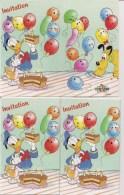 Lot De 6 Cartes Invitation - Thème Walt Disney  -    Donald Et Pluto - Saisons & Fêtes