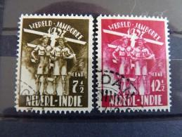 Nederlands Indies 1937 Jamboree Used SG 380-1 NVPH 226-7 - Indes Néerlandaises
